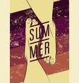 summer typographic vintage grunge poster design vector image