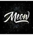 T-shirt printing logo template Meow vector image vector image