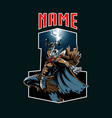 thor insignia style vector image vector image
