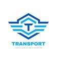 transport logo design letter t concept vector image vector image
