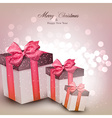 Vibrant christmas background with gift boxes vector image vector image