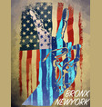 vintage american flag typography t-shirt graphics vector image vector image