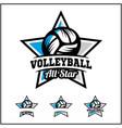 volleyball ball all star badge logo