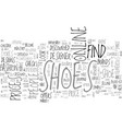 where to find shoes sold at a discount text word vector image vector image