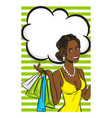 wow face summer black afro girl pop art