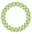 wreath clover with three leaves circle vector image