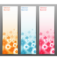 Abstract Flower Background Brochure Template vector image