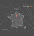 dotted france map vector image