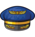 Airline Pilots Hat vector image