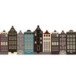 amsterdam style old houses isolated vector image
