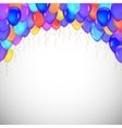 Background of blue balloons vector image
