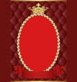 background with golden frame and crown vector image
