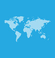 blue hatched map of the world line style vector image