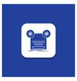 blue round button for record recording retro tape vector image