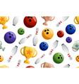 bowling game seamless pattern ball crashing into vector image vector image