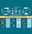 boys nautical scrapbook elements vector image