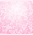 bright pink background hexagon vector image