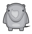 cartoon of a baby rhino vector image vector image