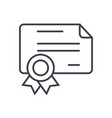 certificatediploma line icon sign vector image vector image