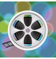 cinema film tape on disc vector image