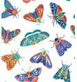 cute butterflies seamless pattern colorful vector image vector image