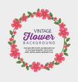 cute flowers plants with branches leaves vector image vector image