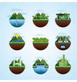 energy types ecological vector image vector image