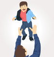 father and son happy family vector image vector image