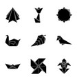 figurine icons set simple style vector image vector image
