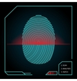Fingerprint scanning and identification vector image vector image