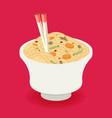 flat noodle ramen graphic vector image vector image