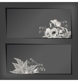 Floral Sketch Banners vector image vector image