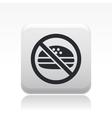 forbidden food icon vector image vector image