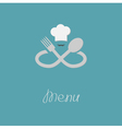Fork spoon infinity sign chef hat mustache Menu vector image vector image