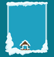 gazebo covered with snow winter scene vector image vector image