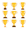 gold award cups vector image vector image