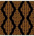 Golden and black ethnic aztec geometric seamless vector image vector image