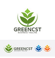 green consulting logo design vector image