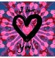 Grunge valentine card vector image vector image