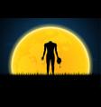 halloween headless zombie hold human head vector image vector image