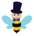 honeybee with a tie or color vector image vector image