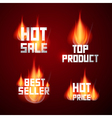 Hot Sale Best Seller Top Product Hot Price Titles vector image vector image