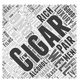 How to Pair Cigars and Alcohol Word Cloud Concept vector image vector image