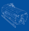 industrial boiler outline rendering 3d vector image
