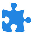 isolated piece of puzzle vector image vector image