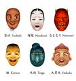 Japan festival masks VI vector image vector image