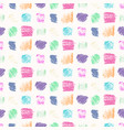 light pastel colors grunge squares pattern vector image vector image