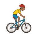 man riding bike icon vector image vector image