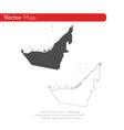 map united arab emirates isolated vector image