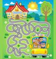 maze 7 with school bus vector image